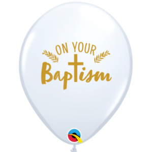 Baptism Latex Balloons | Baptism Balloons | Free Delivery